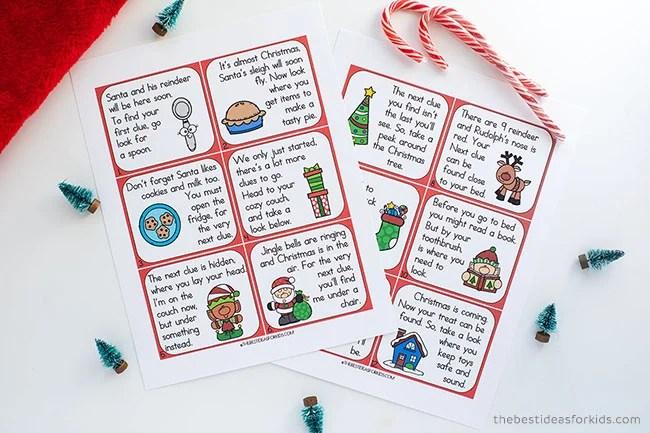 Christmas Scavenger Hunt Free Printable