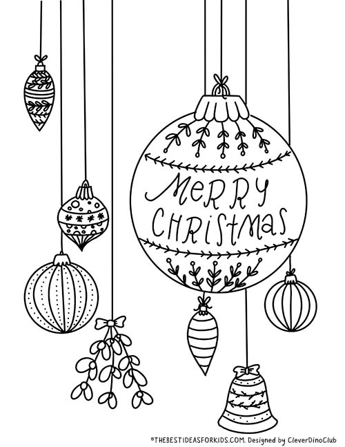 Ornaments Coloring Page