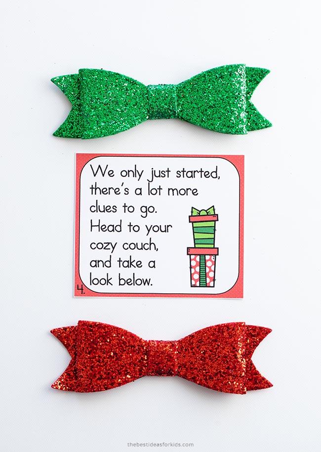 Printable Cards Scavenger Hunt Christmas