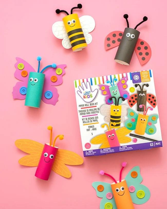 Paper Roll Bug Kit for Kids