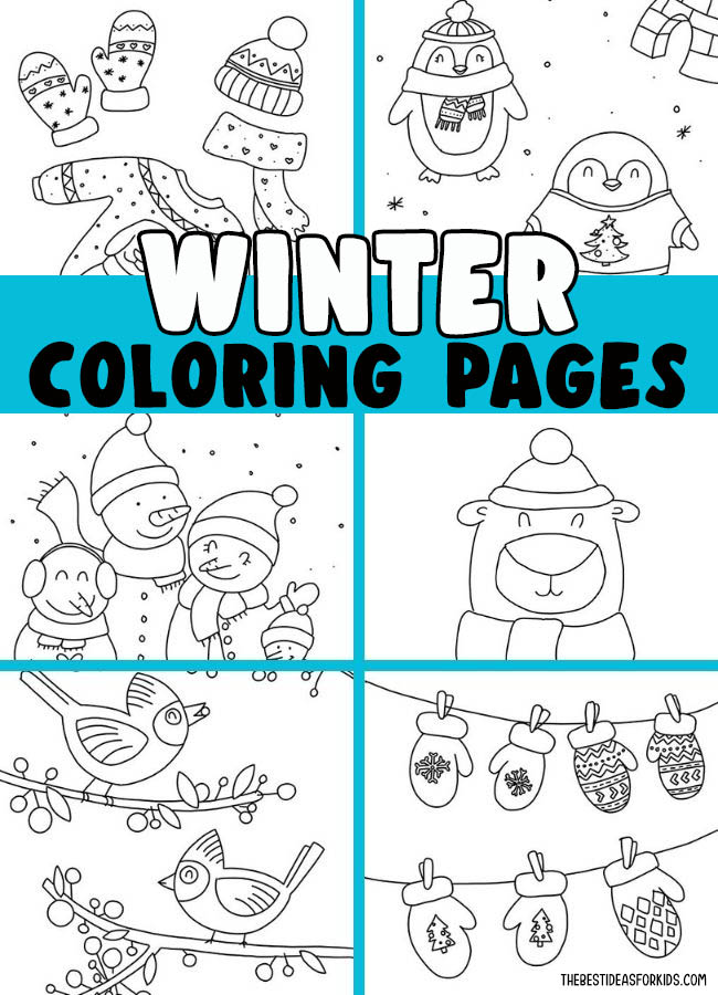 Winter Coloring Pages (Free Printables) - The Best Ideas For Kids