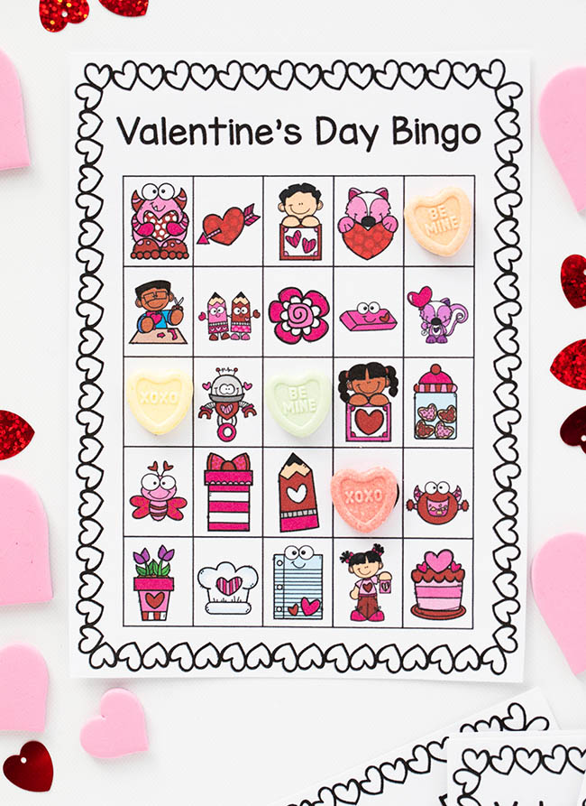 Valentine Bingo Cards Free Printable