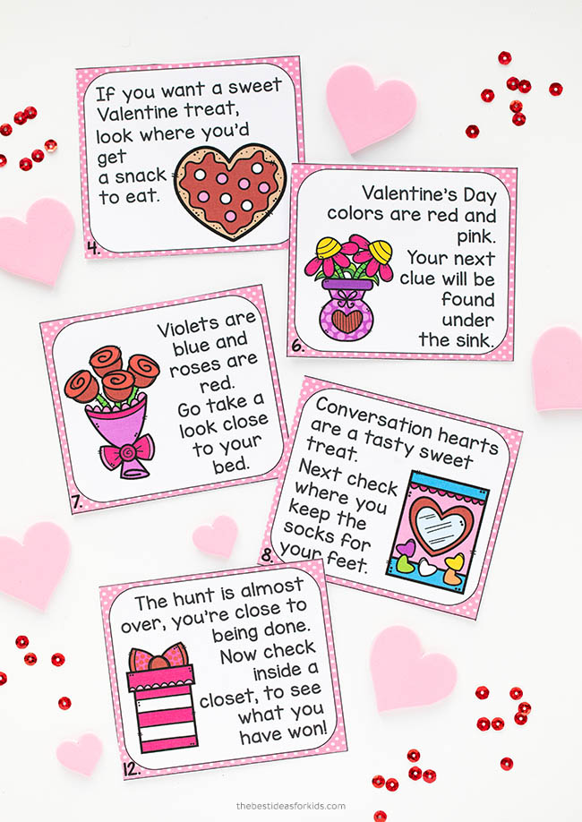 Valentine's Day Scavenger Hunt Printable