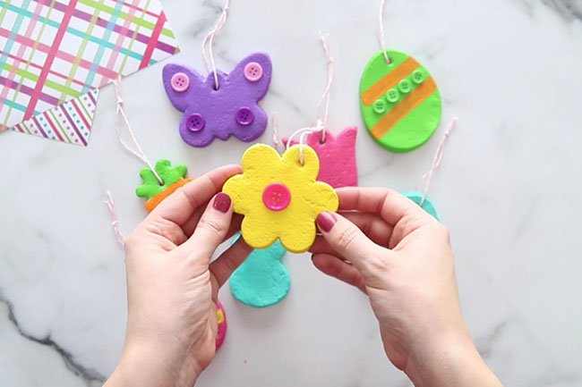 Add String to Easter Ornaments