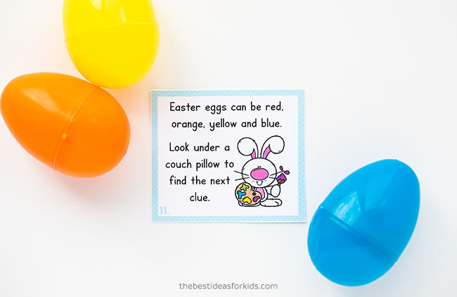 Easter Scavenger Hunt Clue Card