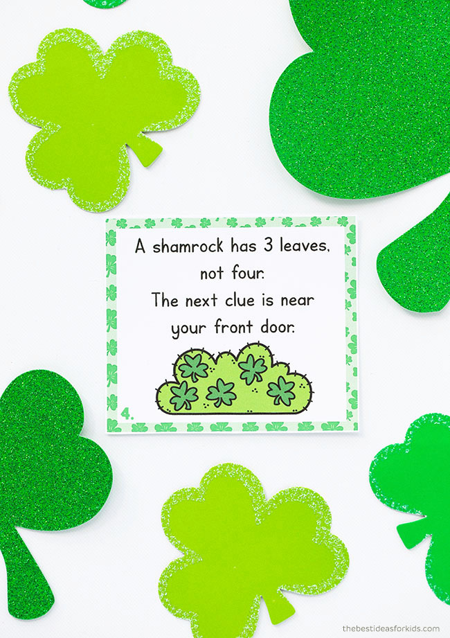 Scavenger Hunt for Kids for St Patrick's Day