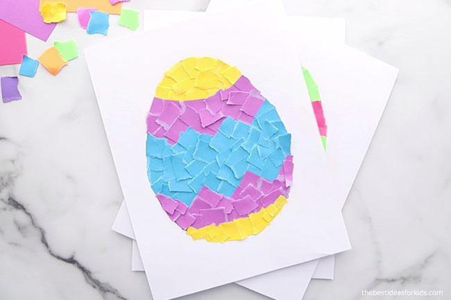 Torn Paper Easter Egg Easter Craft