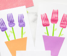 Fork Painted Flowers