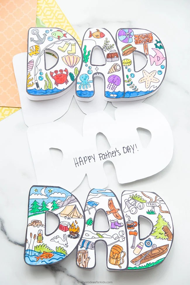 Dad Printable Card for Father's Day