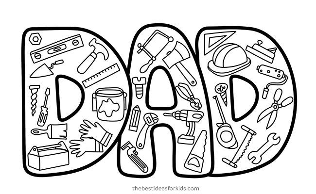Dad Tools Doodle Card