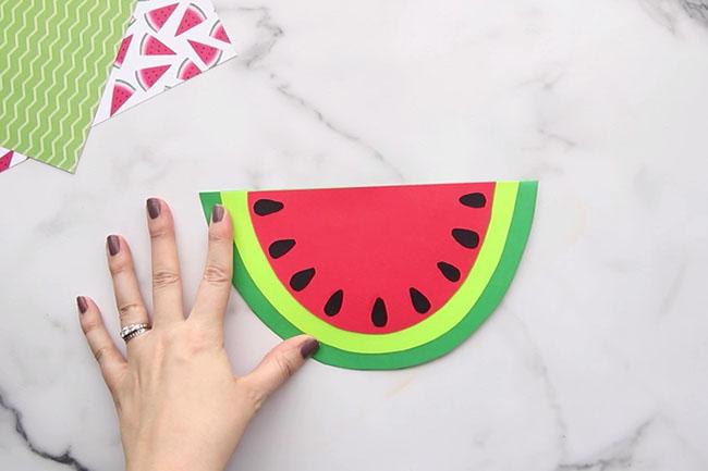 Glue Watermelon Seeds on