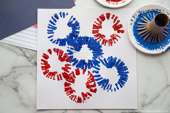 Paper Roll Firework Painting