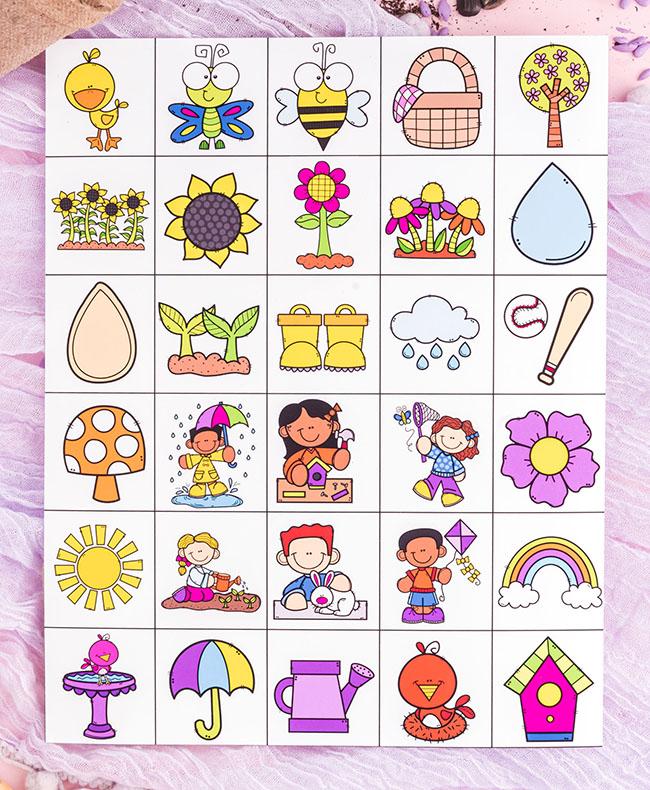 Spring Bingo Calling Card