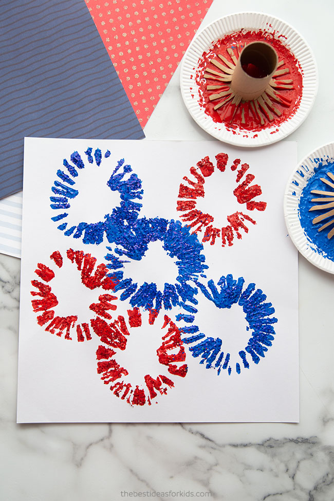Toilet Paper Roll Fireworks Painting
