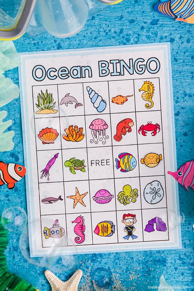 Printable Ocean Bingo Cards
