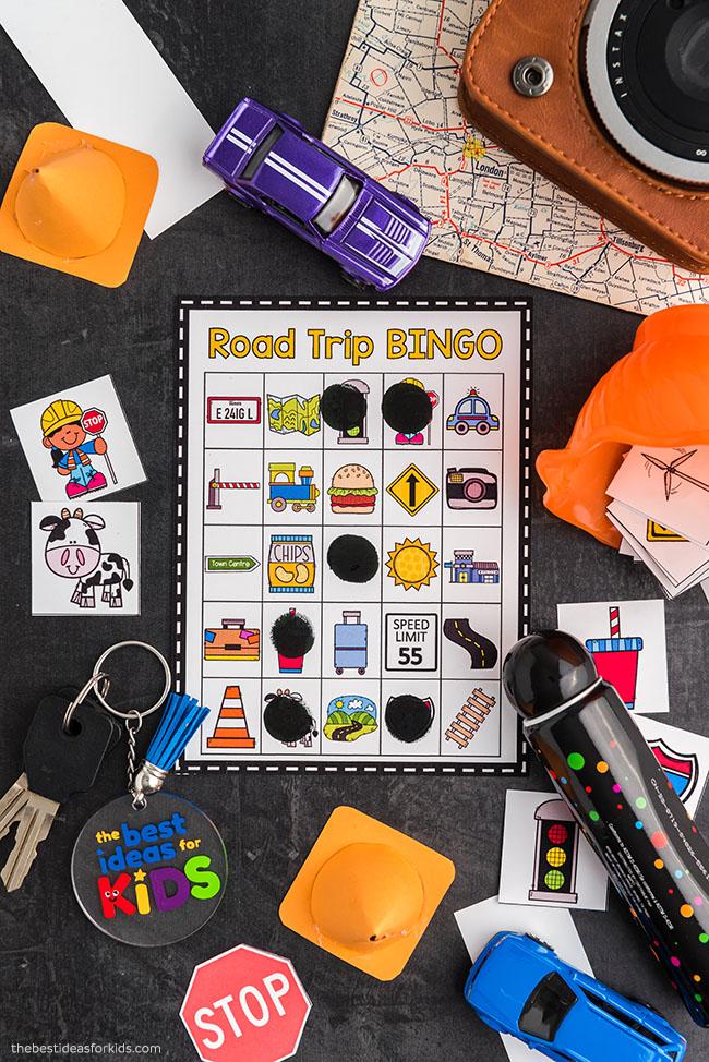 Road Trip Bingo Cards for Kids