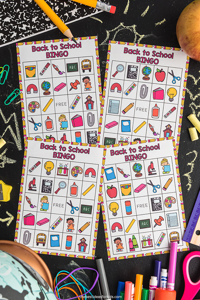 Back to School Free Printable Bingo Cards