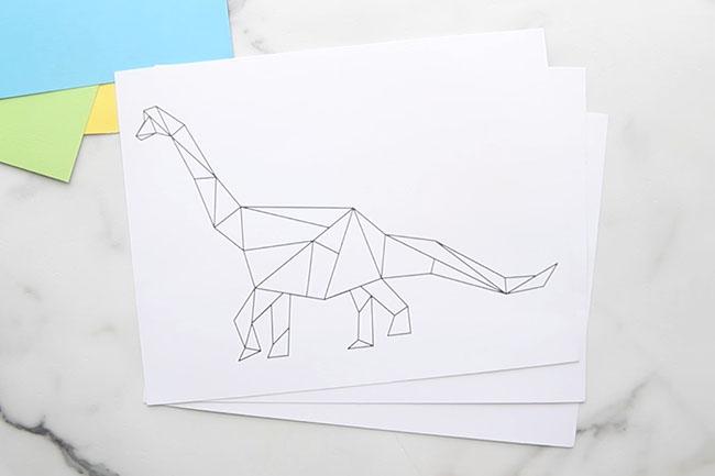 Dinosaur Art Templates