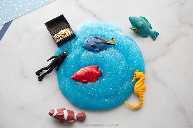 Easy Ocean Slime for Kids