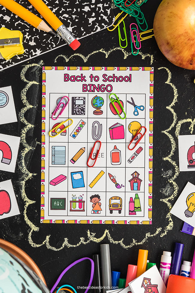 Paper Clip Markers for Back to School Bingo