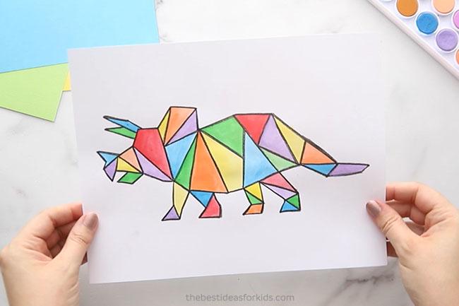 Triceratops Dinosaur Art Project