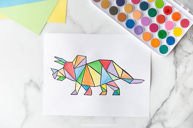 Triceratops Dinosaur Art