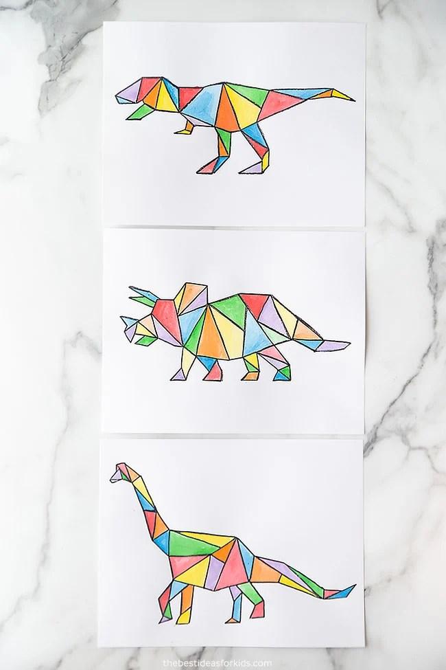 Watercolor Dinosaur Art Project