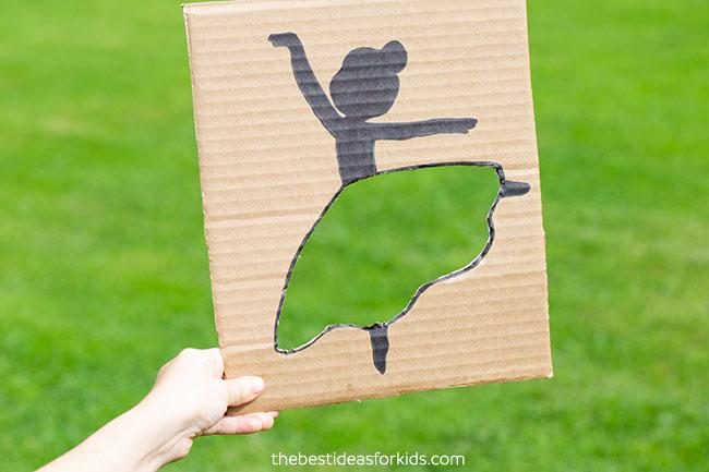 Grass Cardboard Ballerina Cutout