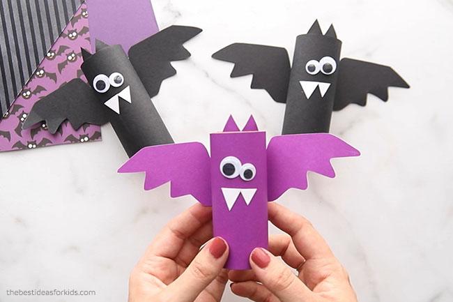 Paper Roll Halloween Bats
