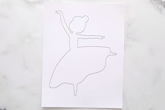 Print off Ballerina Template