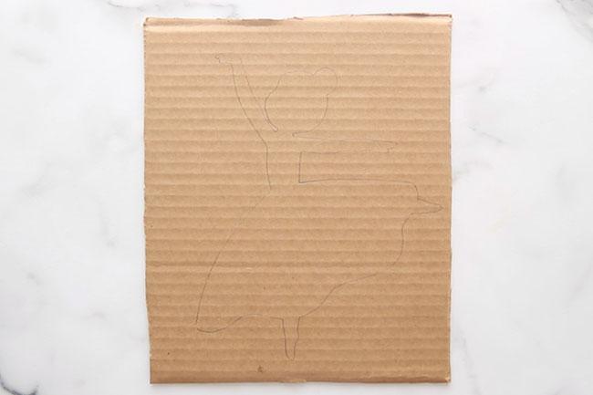 Trace Ballerina Template on Cardboard