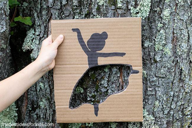Tree Bark Ballerina Cutout