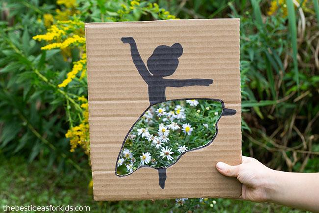 White Flower Ballerina Cutout