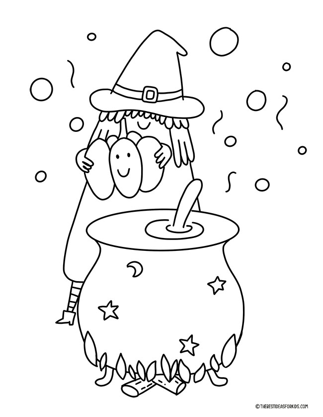 Witch's Brew Coloring Page
