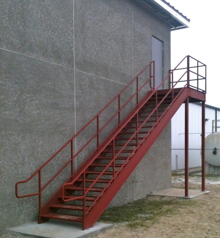 Leesburg Concrete Company Inc Misc Metals Steel Stairs | Aluminum Handrails For Concrete Steps | Garden | Residential | Vinyl | House Stone | Back Patio