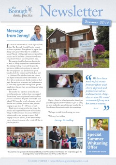 The Borough Dental Practice Newsletter - Summer 2014