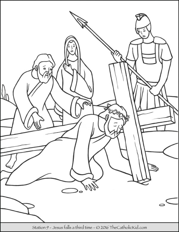 jesus on the cross coloring page # 20