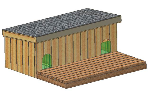 Custom Made Insulated Dog House Plans  Dual Large Dog  Cold Weather     doghouse plans
