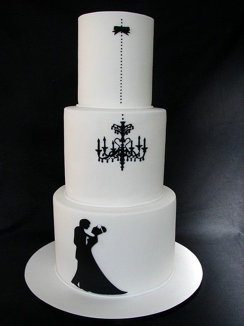 Stunning Wedding Cakes Trending This Summer black and white 6
