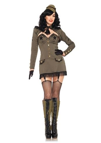 Adult Pin Up Army Girl Woman Costume | $57.99 | The ...