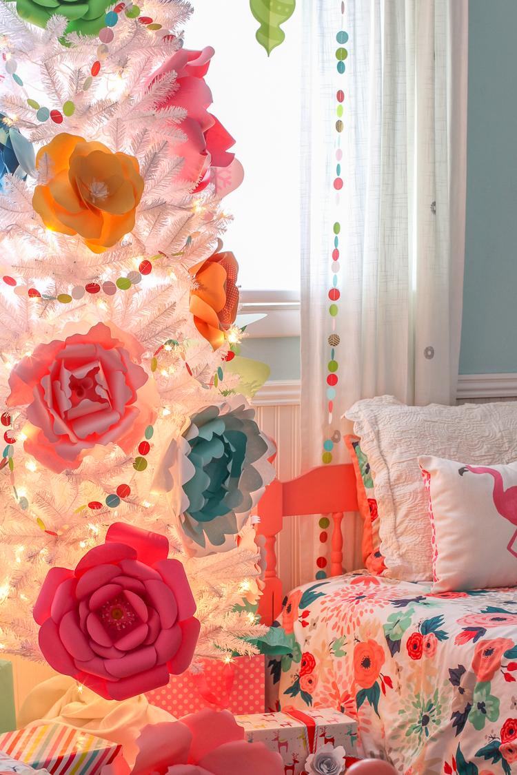 Paper Flower Christmas Tree Thecraftpatchblog Com