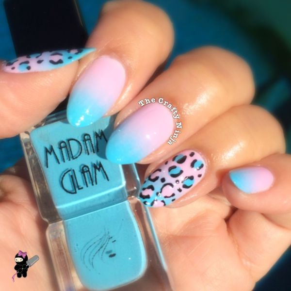 pink and blue ombre nails » Full HD MAPS Locations - Another World ...