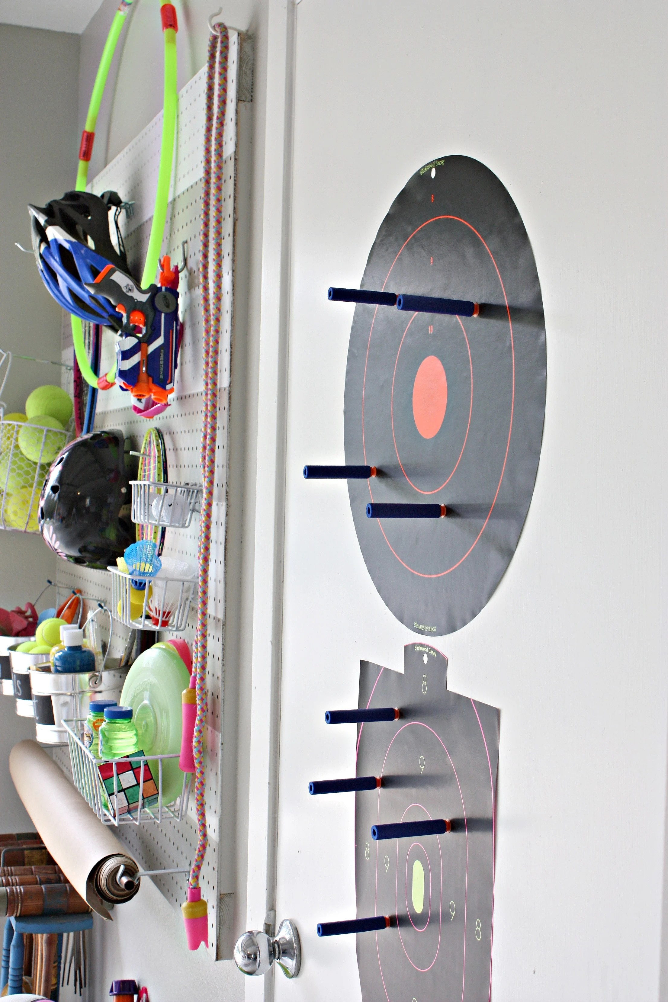 Diy Garage Pegboard Storage For Outdoor Toys