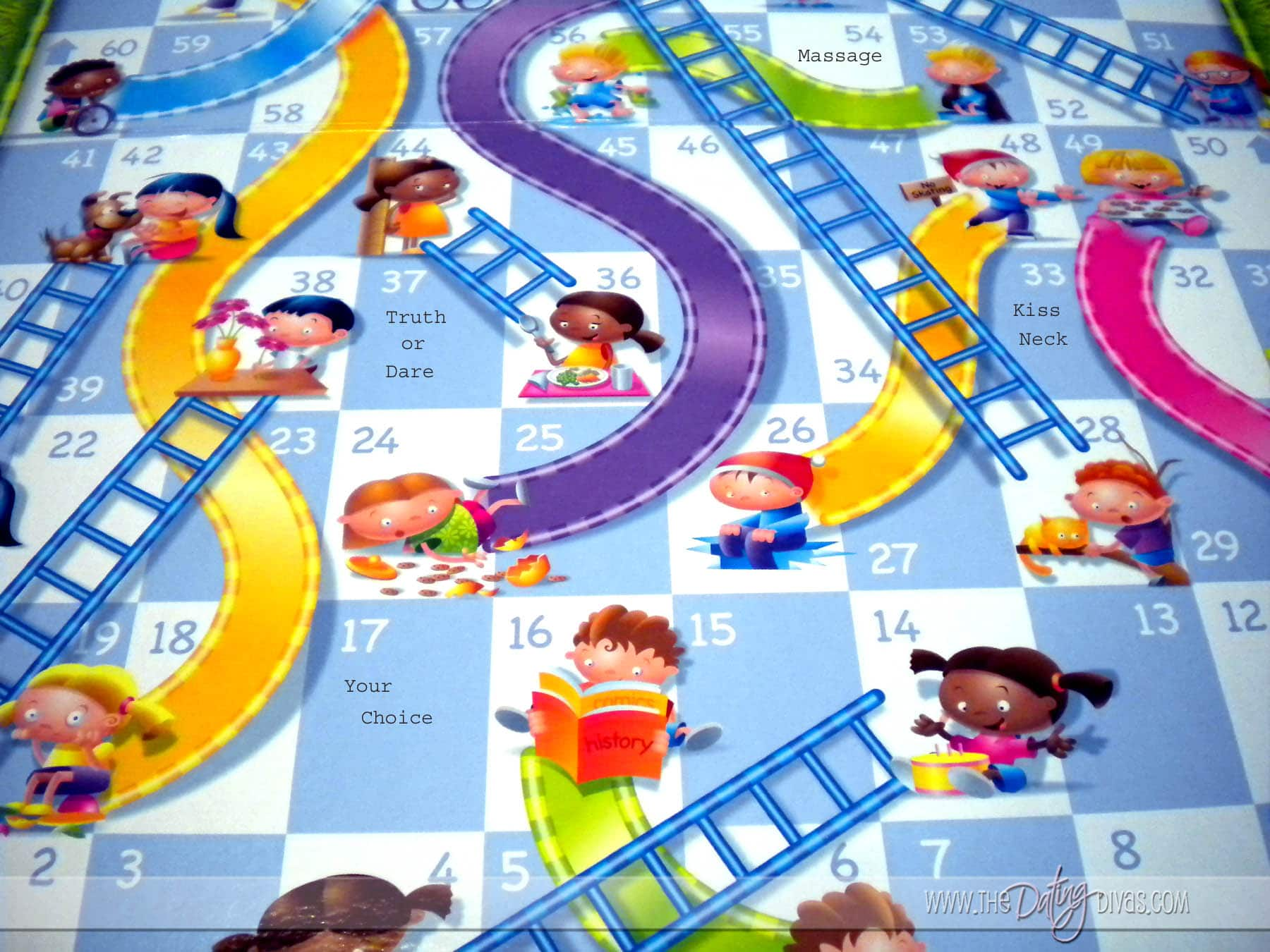 Shoots And Ladders Board Printable