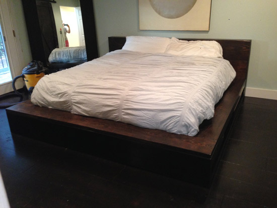 Builders Showcase Vintage Fir Platform Bed With Storage