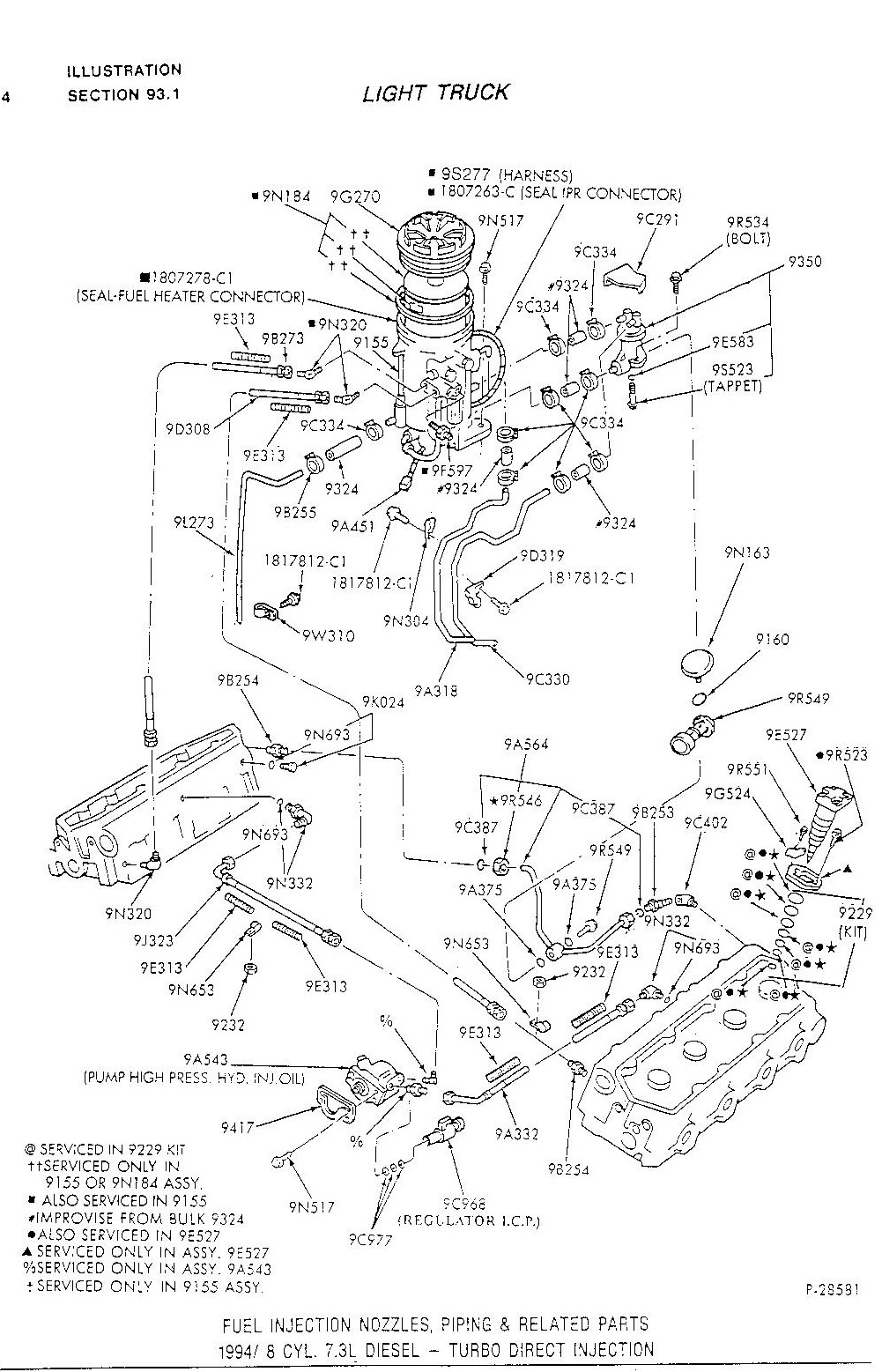 Schematic of fuel bowl tips diesel thedieselstop 1996 ford f350 diesel fuse box diagram