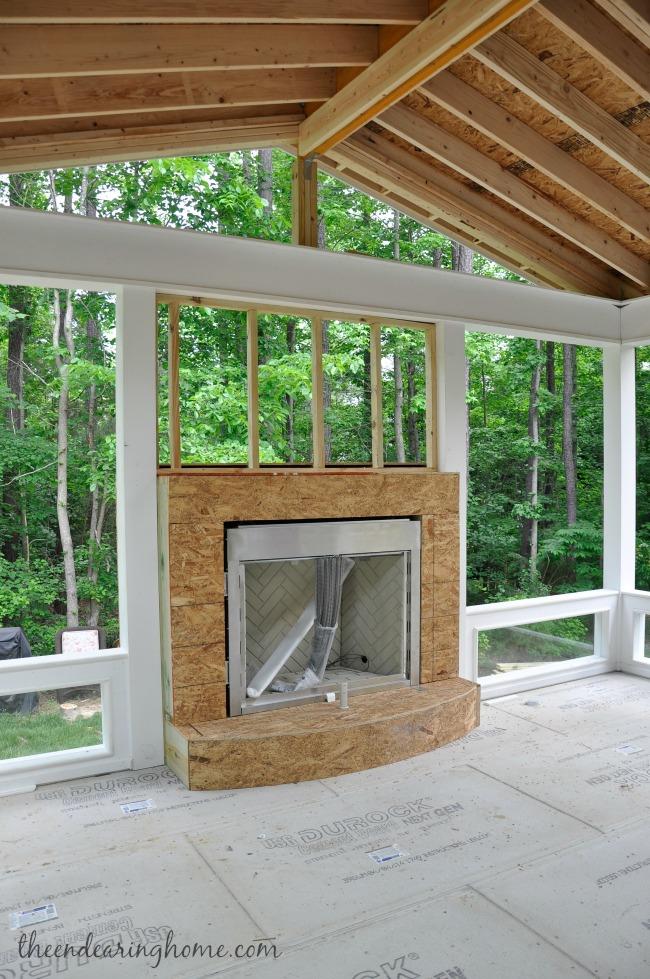 Back Porch Fireplace Ideas