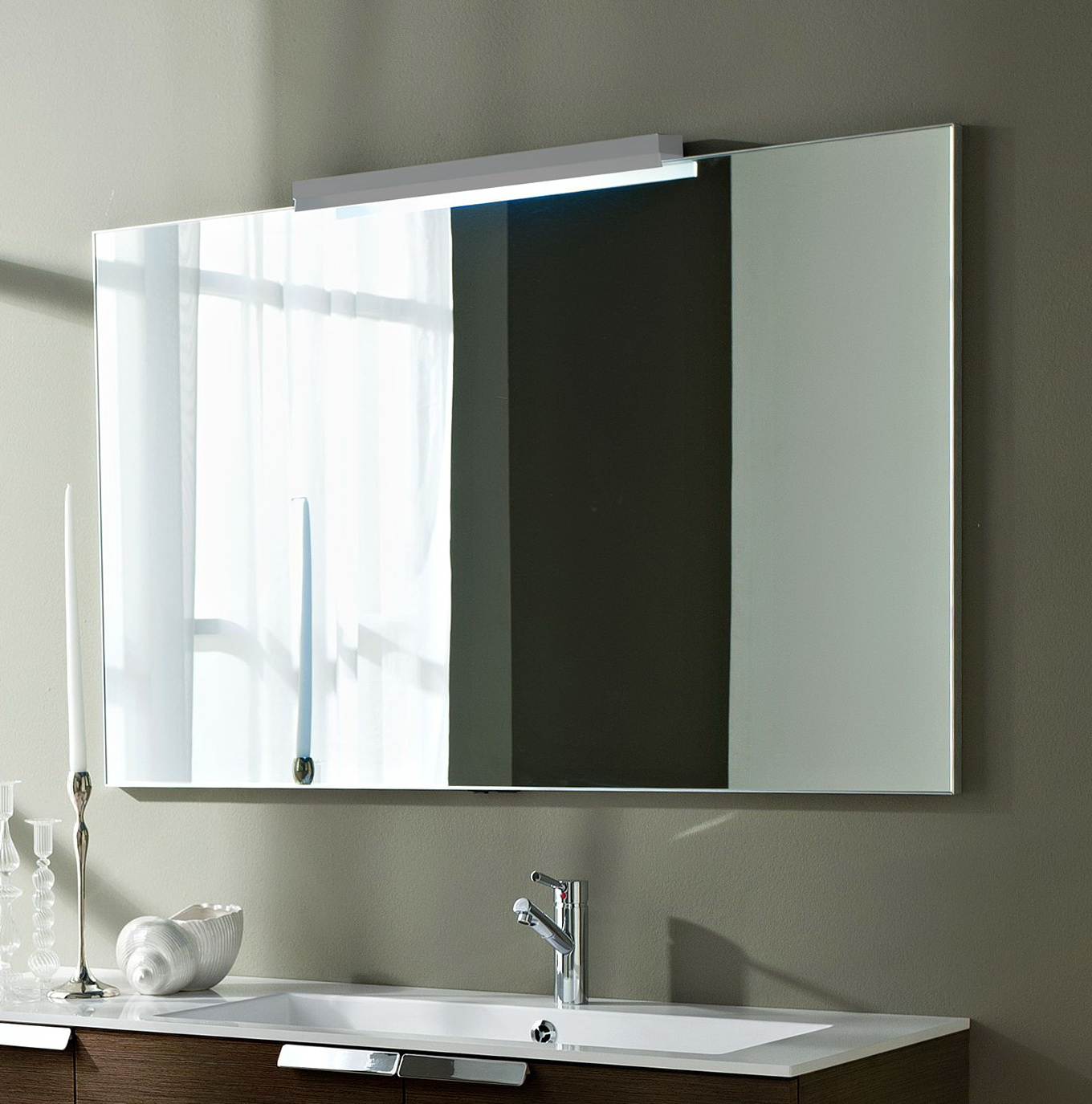 Large Bathroom Mirrors With Lights Home Design Ideas