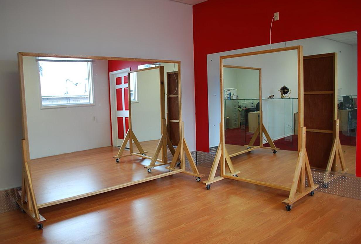 Portable Dance Studio Mirrors Home Design Ideas
