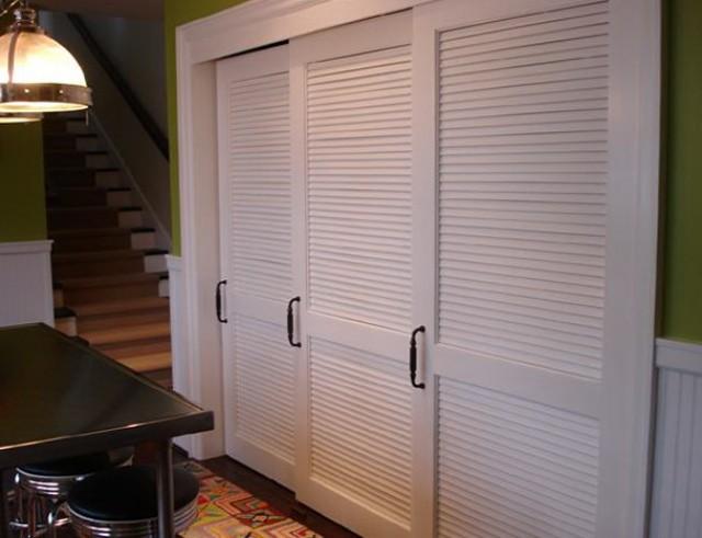 Louvered Sliding Closet Doors White Home Design Ideas